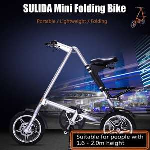 SULIDA Mini Folding Bike  - £157.63 - DealsMachine