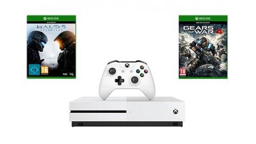Xbox One S 1TB + Gears of War 4 + Halo 5 (+ Quidco) £279.99 @ Microsoft Store