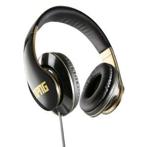 No Proof No Glory Wired Over-Ear Headphones | Stereo | Adjustable | Flex Anti-Tangle Cable - Black/Gold Reduced to £9.99 from £39.99 @ HMV