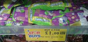 Pez Hedz Bearz 75g Bags 4 for £1 @ Home Bargains