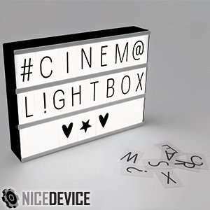 Cinema light box £7.99 BACK IN STOCK @ Home Bargains...Instore or £3.49 delivery