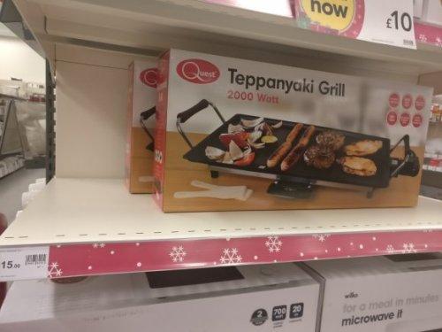 2000 Watt electric Teppanyaki grill for £15 instore @ Wilkos Bolton, got to be a bargain...