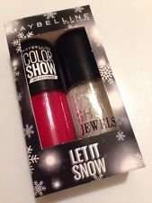 Maybelline Colour Show 2 nail polish Xmas Let It Snow gift set 99p / £3.79 delivered saarahs-shop / ebay