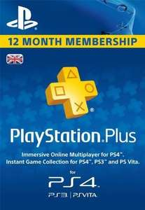 PlayStation Plus - 12 Month Subscription (UK) (£33.14 with cdkeys 5% fbook like code)