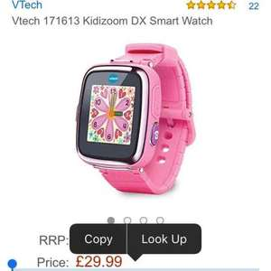 Vtech Pink Kidizoom DX Smart Watch £29.99 @ Amazon delivered