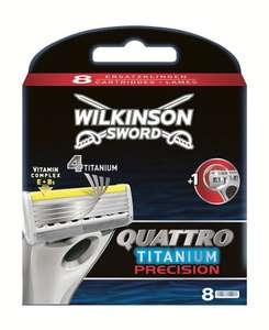 Wilkinson Sword Quattro Titanium Precision Razor Blades (Pack of 8) £2.60 @ Amazon (Add-on item)