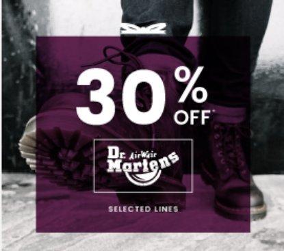30% OFF Dr. Martens @ Cloggs