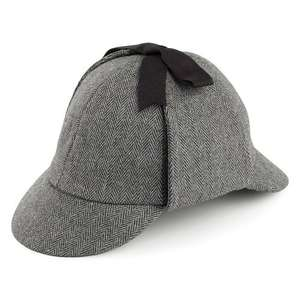 deerstalker hat, hatsandcaps.co.uk £21.95