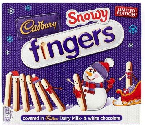 Limited Edition Cadbury Snowy Fingers 230G half price £1.25 instead of £2.50 @ Tesco and Sainsbury's