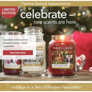 2 x Limited Edition Festive Special Appearance (amongst others) Large Jar Yankee Candles £30.78 @ Yankee Candle UK