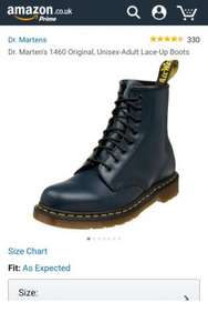 Dr. Marten's 1460 Original, Unisex-Adult Lace-Up Boots, Blue (Navy) & Black Various Sizes from £57.50 @ Amazon