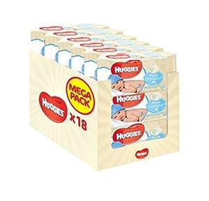 Huggies wipes 18 pack £9.97 subscribe and save or £10.50 prime / £13.25 Non Prime @ Amazon