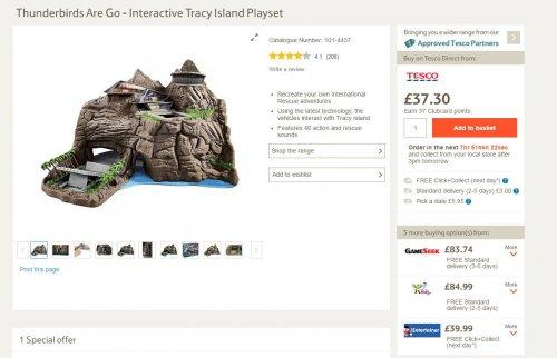 Thunderbirds Are Go - Interactive Tracy Island Playset £37.30 Tesco