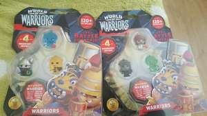 World of warriors pack of 4 warriors £1 Poundshop