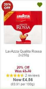 Lavazza Qualita Rossa 3 x 250g for £4.56 @ Waitrose with MyPicks