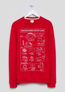 Not sure what to cook on Christmas day? Christmas Dinner Anatomy Guide - Christmas Jumper - Was £12 now £6 Free C&C @ Matalan