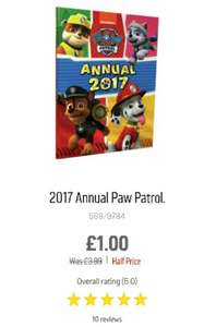 Paw Patrol 2017 annual £1 in Argos