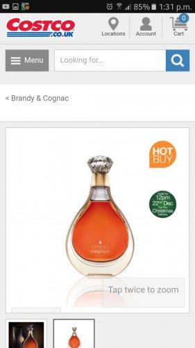 L'Essence De Courvoisier Cognac, 70cl  £1299.99 Costco
