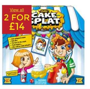 cake splat 2 for £14 at Asda George (instore and online)