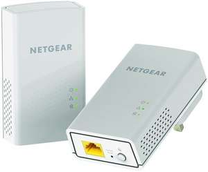 NETGEAR PL1200-100UKS 1200 Mbps Powerline Ethernet Adapter Homeplug twin pack at Amazon