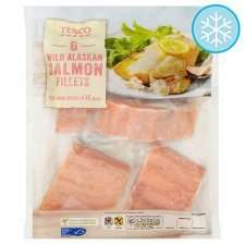 6 Wild Alaskan Salmon Fillets 600G £6.67per kilo - Tesco - £4.00