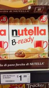 Nutella Bready bars x 8 (152.8g) £1.99 at Farmfoods so moreish you'll eat them all!
