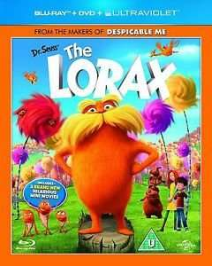 Dr Seuss' The Lorax - 2 Disc (Blu Ray) + DVD + Ultraviolet £2.95 @ eBay/dvdbayuk_outlet