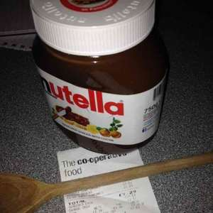 Nutella £3 for 750g at Co-op