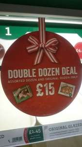 Krispy Kreme Assorted Dozen + Original Dozen - £15 @ Tesco instore (found Brixton)