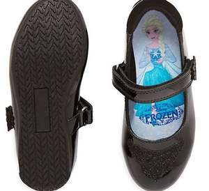 From mothercare. Black back to school Disney frozen shoes £6