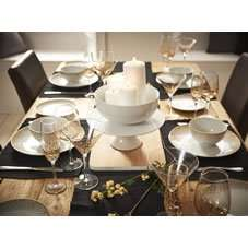 Wilko Dinner Set 12pc Sparkle Gold ~ ideal for the festive season - £15 (Free C&C)