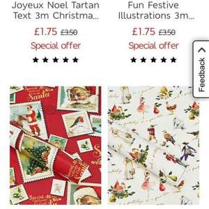 M&S Christmas wrapping paper and cards half price