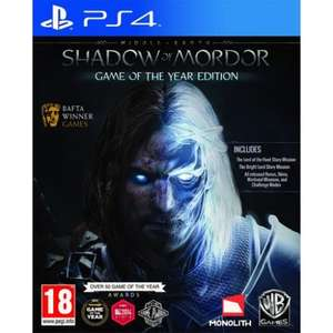 Middle Earth Shadow of Mordor GOTY PS4/XB1 £9.99 @ The Game Collection