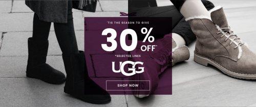 upto 30% off Ugg australia and Dr Martens at Cloggs