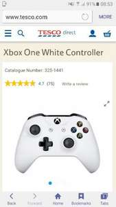 Xbox One White Wireless Controller £37.99 Free C&C Tesco