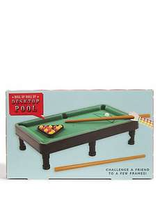 Desktop Pool Table, Desktop Golf & Desktop Ping Pong & More £3 @ M&S
