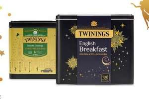 Christmas Tea Caddies £6, BOGOF & Free delivery if you spend £10 @ Twinings
