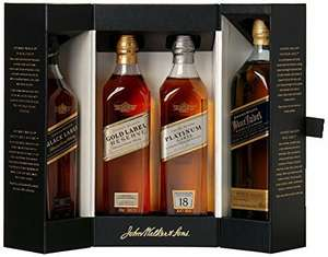 Johnny Walker whisky collection (4 x 20cl) at Amazon for £77.99