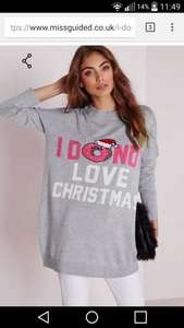 Missguided 'i donut love christmas' jumper (size s,m) £2.50 with code, free click and collect