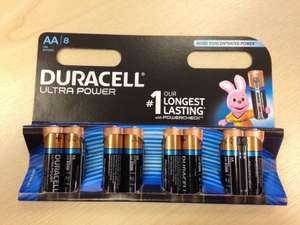 Duracell Ultra Power eight-pack - buy one, get one free £8 Tesco instore