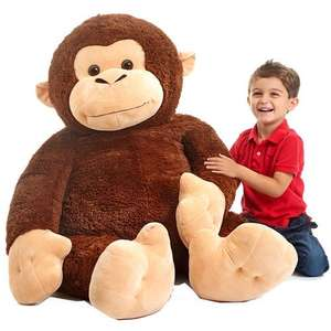 "Animal Alley 53"" Monkey Soft Toy Half Price at £39.99 Free Delivery or C+C @ Toys R Us"