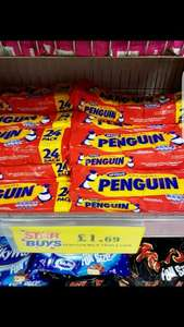Pick Up A 24 Pack Of Penguins for £1.69 at Home Bargains