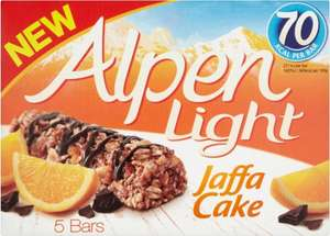 Alpen Light Jaffa Cake Cereal Bars (5 x 19g) was £2.00 now £1.00 @ Morrisons