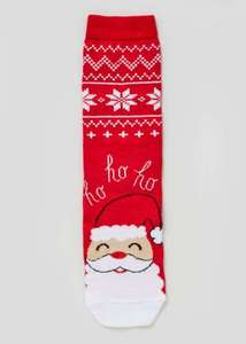 Women's Santa Socks 50p Free Click & Collect @ Matalan