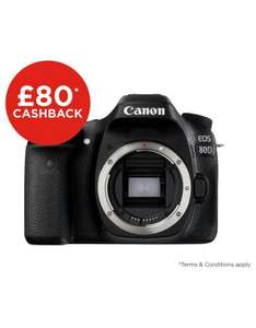 Canon EOS 80D DSLR Body Only £799 (£719 after Cashback) @ Argos