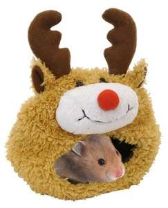 Rosewood Reindeer Hamster Bed - don't forget your little furry friends this Christmas! £2.99 delivered (when you spend £20) @ Amazon (add on item)