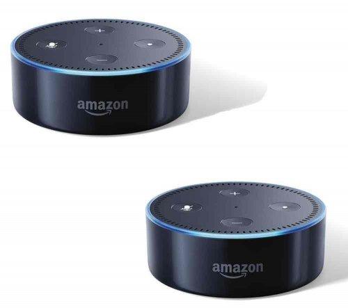 Amazon Echo Dot twin pack - £42.50 @ PC World