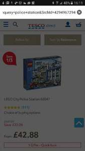 lego police station at Tesco Direct for £42.88