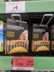 Duracell AAA batteries 8 pack half price - £3.50 @ Sainsbury's