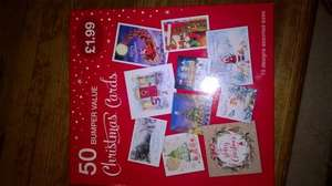 50 Bumper Value Christmas Cards for £1.99 @ Card Factory